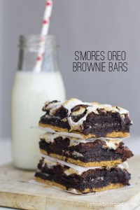 S'mores Oreo Brownies
