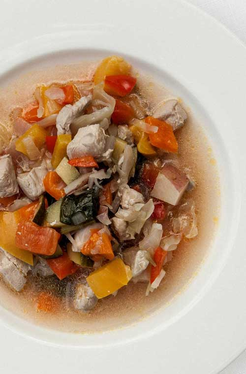 Caribbean Rainbow Soup - Not your ordinary traditional chicken soup. This one happens to capture the tropics, and is even better for you!
