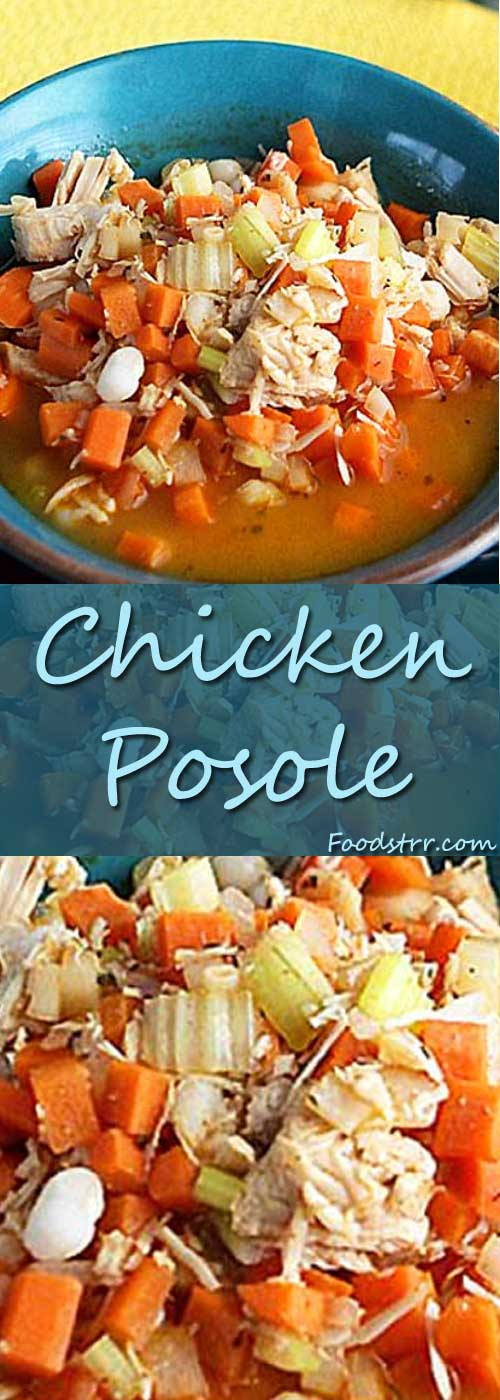 Recipe for Chicken Posole - Posole is a delicious side dish that can be served with several toppings. It can be eaten by itself, or it can be served with shredded cabbage, sliced radish, or chopped onions.