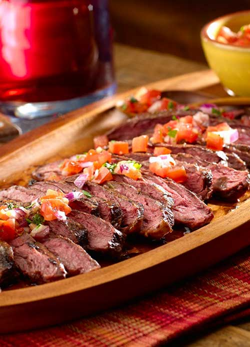 Grilled Steak with Salsa Criolla - Tonight, try a recipe from South America! Enjoy these Argentinean-style steaks with a homemade Criolla Sauce, packed with flavor.