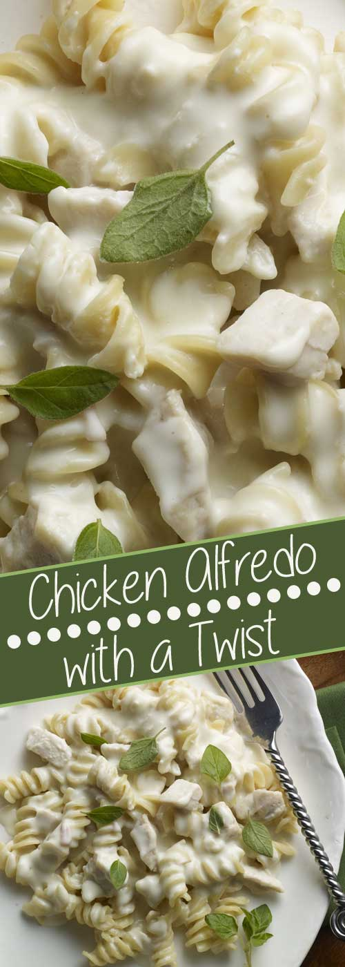 Chicken Alfredo With a Twist - This rich and creamy recipe gives ordinary chicken alfredo a healthy twist.