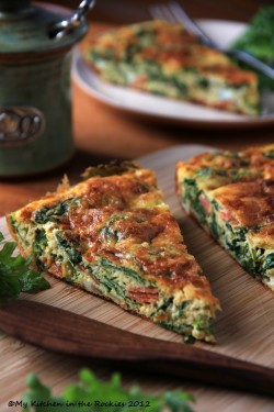 Kale Frittata – A Healthy Breakfast Casserole Colorado Denver Foodblog German recipes My K ...