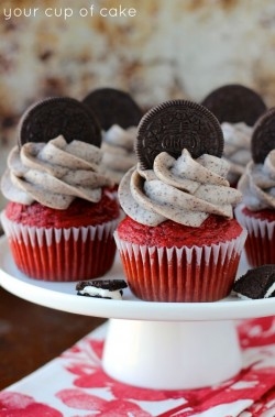 Oreo Red Velvet Cupcakes – Your Cup of Cake