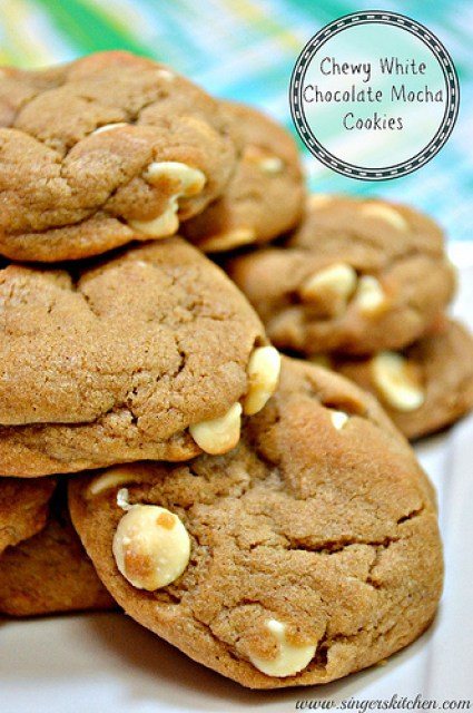 Secret Recipe Club: Chewy White Chocolate Mocha Cookies