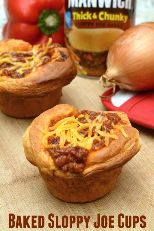 Life With 4 Boys: Baked Sloppy Joe Cups #ManwichMondays