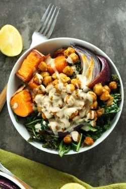 Sweet Potato Chickpea Buddha Bowl | Minimalist Baker