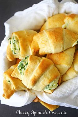 Cheesy Spinach Crescents – Kleinworth & Co