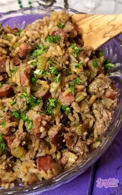 Cajun Dirty Rice – All the flavors in this Cajun Dirty Rice may just make you believe that ...